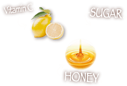 Vitamin C, SUGAR, HONEY